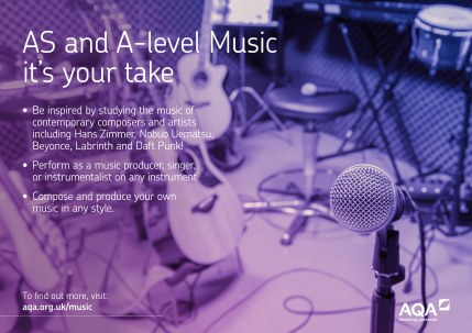 AQA AS and A-level Music Studio Poster