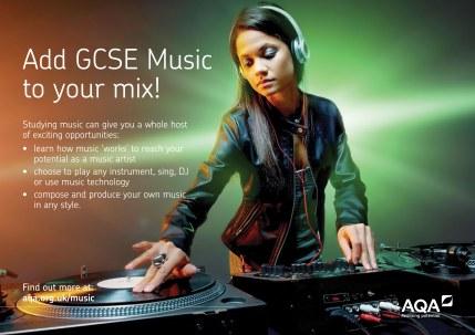 AQA GCSE Music DJ Poster