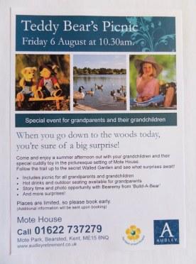 Mote House Teddy Bear's Picnic Event Flyer