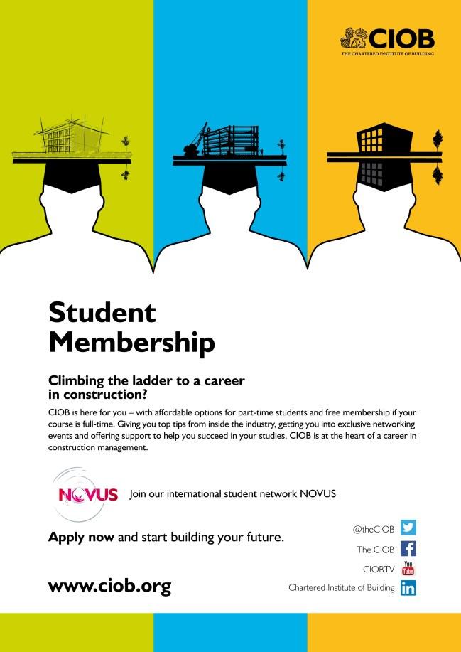 CIOB Student Communication Campaign Poster