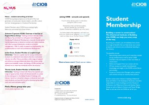 CIOB Student Communication Campaign DL Flyer