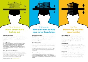 CIOB Student Communication Campaign DL Leaflet - Inside Pages