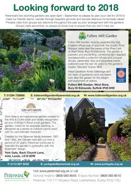 Fullers Mill Garden and York Gate Garden Advert