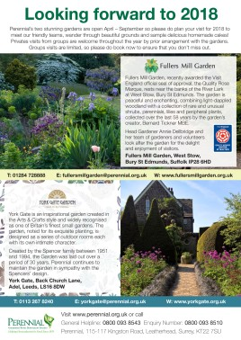 Fullers Mill Garden and York Gate Garden Advert
